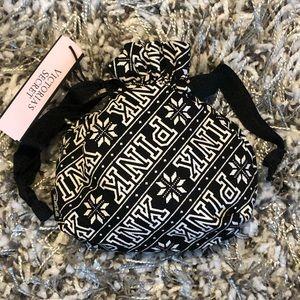PINK Victoria's Secret Bags - Victoria's Secret PINK Snowflake Drawstring Pouch